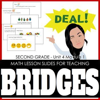 2nd Grade Lesson Slides for Bridges Math - Unit 4 Module 1