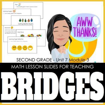 2nd Grade Lesson Slides for Bridges Math - Unit 7 Module 3