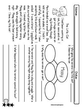 2nd Grade Leveled Reading Passages CCSS {RL.1, RL.2, RL.3, RL.4, RL.6, RL.7}