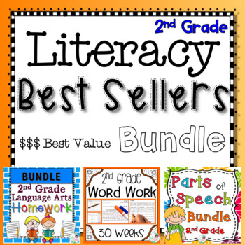 2nd Grade Literacy Best Sellers Bundle - Practice, Assessments, and Homework