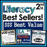 2nd Grade Literacy Best Sellers Bundle - Practice, Assessm