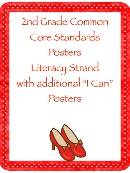 "2nd Grade Literacy CCSS Posters with ""I Can"" Statements:"