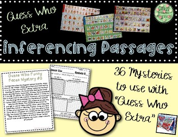 2nd Grade Literacy Center- Guess Who Mysteries (Inference)