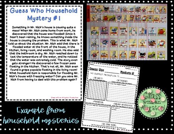 Literacy Center- Guess Who Mysteries (Inference)