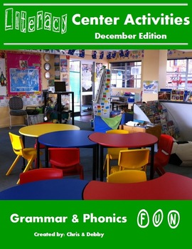 2nd Grade Literacy Centers Activity Pack (December) {Commo