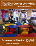 2nd Grade Literacy Centers Activity Pack (November) {Common Core Aligned}