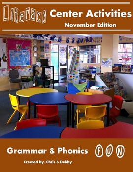 2nd Grade Literacy Centers Activity Pack (November) {Commo