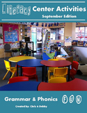 2nd Grade Literacy Centers Activity Pack (September) {Comm