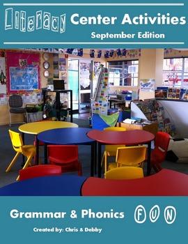 2nd Grade Literacy Centers Activity Pack (September) {Comm