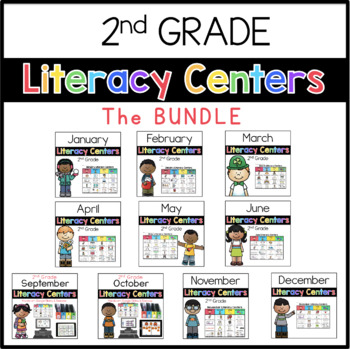 2nd Grade Literacy Centers BUNDLE
