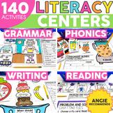 2nd Grade Literacy Centers Bundle - Phonics Reading Grammar Writing -ELA Centers