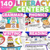 2nd Grade Literacy Centers Bundle - Phonics Reading Gramma