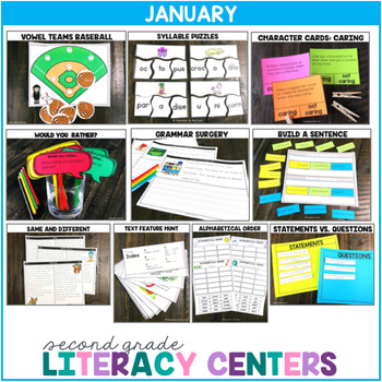 2nd Grade Literacy Centers for January