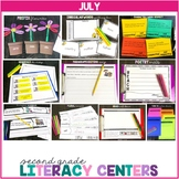 2nd Grade Literacy Centers for July