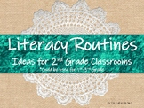 2nd Grade Literacy Routines For Independent or Partner Work
