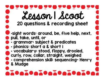 2nd Grade Literacy Scoots adapted from Journeys: Unit 1