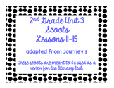 2nd Grade Literacy Scoots adapted from Journeys: Unit 3