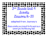 2nd Grade Literacy Scoots adapted from Journeys: Unit 4