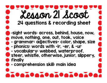 2nd Grade Literacy Scoots adapted from Journeys: Unit 5