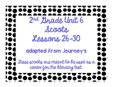 2nd Grade Literacy Scoots adapted from Journeys: Unit 6