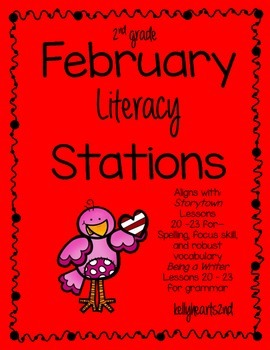 2nd Grade Literacy Station Pack for February