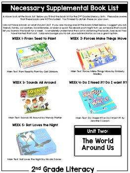 2nd Grade Literacy Unit Two: Let's Discover the World Around Us