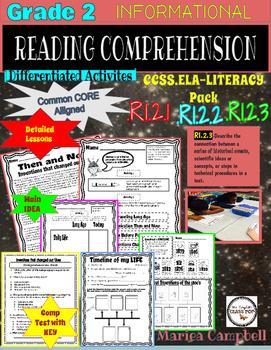 "2nd Grade Lit- Informational Pack .RI.2.1 .RI.2.2 .RI.2.3 ""Historical Events"""