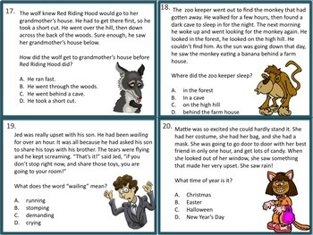 2nd Grade Literature Task Cards and Game