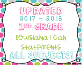 2nd Grade Louisiana State Standards I Can Statements Bundl