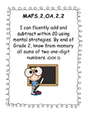 """2nd Grade MAFS Posters - Florida Math Standard """"I can..."""" Posters"""