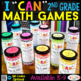 2nd Grade MATH BUNDLE | Spiral Review, Games & Quizzes | ENTIRE YEAR