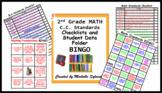 2nd Grade MATH & ELA C.C. Standards Checklists and Student Data Folder BINGO