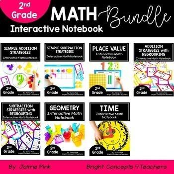 2nd Grade MATH Interactive Notebook BUNDLE