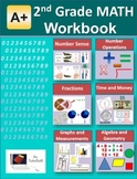 """A+ Math"" 2nd Grade Math Workbook (Worksheet, Exams and Answer Keys)"