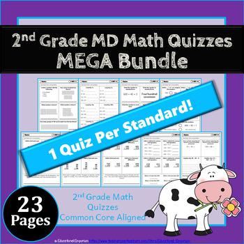 2nd Grade MD Quizzes: 2nd Grade Math Quizzes, Measurement & Data
