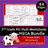 2nd Grade MD Worksheets: 2nd Grade Math Worksheets, Measurement & Data