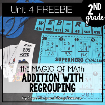 2nd Grade Magic of Math FREEBIE:  Addition With Regrouping