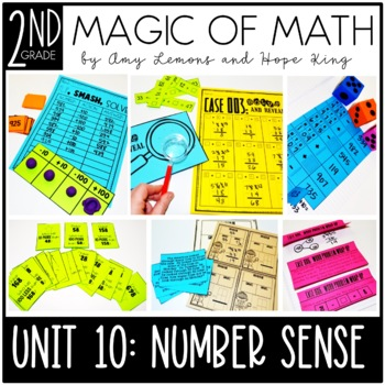 2nd Grade Magic of Math Unit 10:  Unknown Numbers and 10 & 100 More and Less