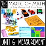 2nd Grade Magic of Math Unit 6:  Measurement (Length, Area, Word Problems)