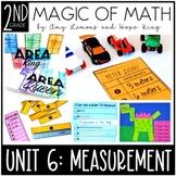 2nd Grade Magic of Math Unit 6:  Measurement (Length, Area, Word Problems)