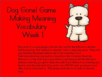 2nd Grade Making Meaning Third Edition Vocabulary Week 1 S