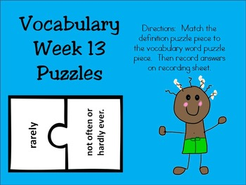 2nd Grade Making Meaning Vocabulary Week 13 Packet