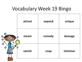 2nd Grade Making Meaning Vocabulary Week 19 Station Packet
