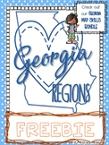 2nd Grade Map Skills with Georgia Regions
