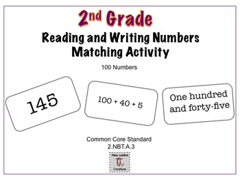 2nd Grade:Match Standard/Word/Expanded Form-Numbers up to 1000 Math Center
