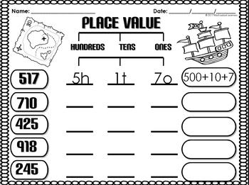 2nd Grade Math | Place Value | Assessments | Posters 200+Pages
