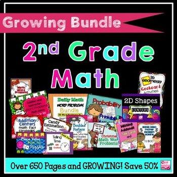 Bundled 2nd Grade Math Activities