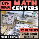 6th Grade Math Activities PRINT & DIGITAL Bundle - Distanc