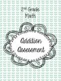 2nd Grade Math Addition Assessment