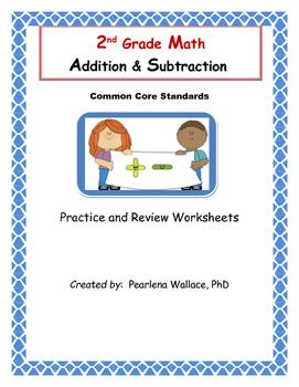 2nd Grade Math Worksheets:  Addition & Subtract - Operations Algebraic Thinking